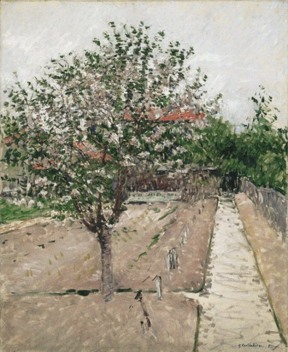 Brooklyn Museum   Apple Tree in Bloom (ommier en fleurs   Gustave Caillebotte apfelbaum bluete appel boom bloei lente 580x708 Gustave Caillebotte in het  Gemeentemuseum Den Haag